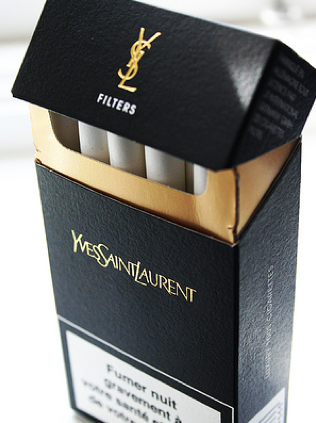 Yves Saint Laurent cigs so chic ...